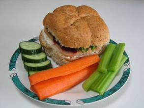 Bunwich and Vegetables