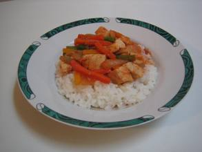 Chicken Stirfry and Rice